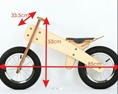 running a drawing with his own hands: 9 thousand images . Wooden Bicycle, Wood Bike, Kids Bicycle, Montessori Materials, Montessori Toys, Balance Bicycle, Toddler Bike, Push Bikes, Bike Seat