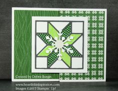 Stamp Review Crew: Christmas Quilt | Heartfelt Inkspiration