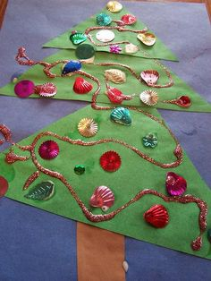 christmas crafts for kids! Large Christmas Tree, Preschool Christmas, Toddler Christmas, Christmas Crafts For Kids, Christmas Projects, Preschool Crafts, Holiday Crafts, Christmas Holidays, Christmas Gifts