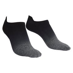 These cool black-ombré ankle socks have a little heel cushion—perfect for wearing with running sneakers—and a bit of grip on the bottom, so you can wear them to