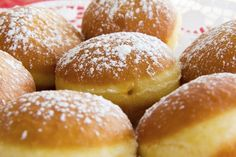 """Original homemade carinthian carnival donuts, or so called """"faschingskrapfen"""", filled with apricot jam. Hungarian Cake, Hungarian Recipes, Hungarian Food, Beignets, Donuts, Sweet Recipes, Cake Recipes, Biba Magazine, Pancake Muffins"""