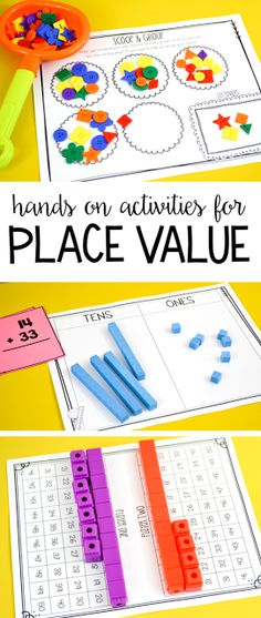 Some of my go-to place value activities for first grade! Students love these hands-on games and play them over and over!