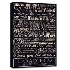 What makes your family unique? Great personalized gift for just about any occasion.