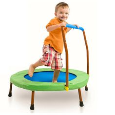 JumpSport®iBounce 2 Kids Round Foldable Trampoline w/ DVD