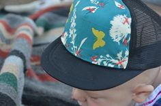 Hand stitched trucker hats by Blowfish Design Co