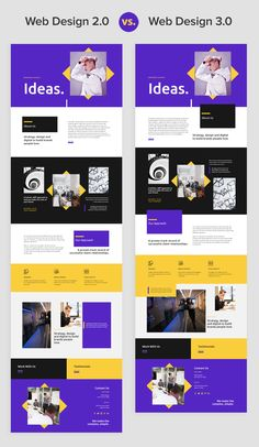 If you compare five-year-old web designs to modern ones, you will see a huge difference. Just look at what is trending today on Behance and Dribbble. New pages in Web Design differ with free positioning, element overlapping, white space, and free sizing. Best Website Design, Site Web Design, Website Design Layout, Web Design Company, Web Layout, App Design, Layout Design, Website Designs, Email Design