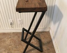 Barstool Seating Chair Set of 2 Industrial Barstools von DendroCo