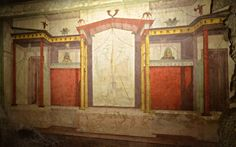 House of Augustus (Domus Augusti), South wall of the Mask Room, 2nd Pompeian style, Palatine Hill, Rome | by Following Hadrian
