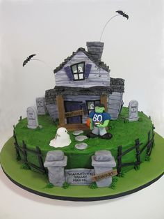 Haunted House Cake by Sweet Maddie Lee Cake Design- Becky, via Flickr