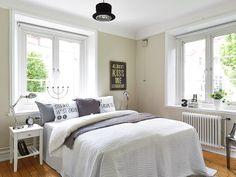 via studio joyz. swedish apartment bedroom.