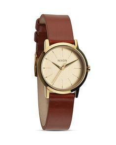Nixon The Kenzi Leather Strap Watch, 26mm