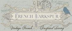 French Larkspur - wonderful, vintage French-inspired living