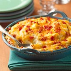 Loaded Mashed Potato Casserole.