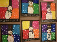 Artolazzi: Warm/Cool Snowmen Paintings Good idea for winter camp projects. Artolazzi: Warm/Cool Snowmen Paintings Good idea for winter camp projects. Classroom Art Projects, School Art Projects, Art Classroom, Art School, Kindergarten Art, Preschool Art, Snowmen Paintings, Classe D'art, January Art