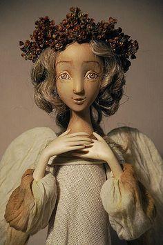 """04.04.2012  Работа дня: кукла """"Задумчивый ангел""""  Wooden doll Angel"""