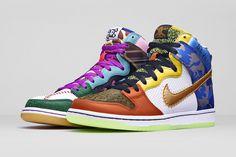 Nike Created a 'What the Doernbecher' Dunk Sole Collector nike dunk - Nike Shoes Jordan 3, Nike Dunk High, Yeezy, Sneakers Fashion, Sneakers Nike, Basketball Sneakers, Baskets, Sneaker Magazine, Site Nike
