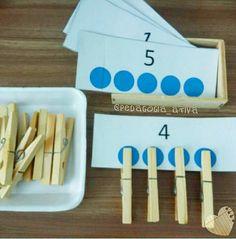 Montessori math activity
