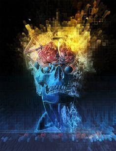 Visionary art by Android Jones. Android Jones, Horror Themes, Concept Art World, Visionary Art, Psychedelic Art, Fantasy Art, Illustration Art, Illustrations, Digital Art