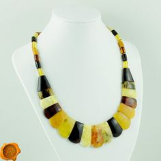 Large Multicolored Baltic Amber Necklace / Large Bead Amber Necklace Cleopatra Jewellery/White Cherry Green Cognac Amber Necklace for Women Baltic Amber Necklace, Amber Bracelet, Amber Teething, White Cherries, Amber Beads, Cleopatra, How To Make Beads, Powerful Women, Cherry