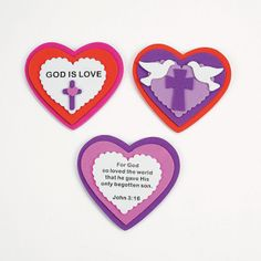 Inspirational Heart Magnet Craft Kit cute for Sunday school classes to make for valentines day