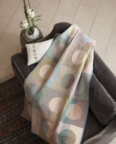 """This quilt is made from our Potter's Wheel Bundle. It is in the NEW book """"Transparency Quilts"""" by Weeks Ringle and Bill Kerr of Modern Quilt Studio"""