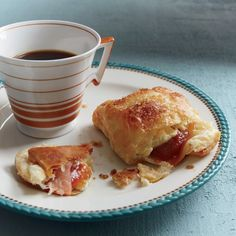 """Guava-Cream Cheese Pastries   These delicious pastelitos """"filled pastries"""" have a crisp, buttery puff-pastry shell. They're a great, easy-to-make dessert."""