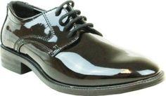 VANGELO Boy Tuxedo Patent Dress Shoe Oxford Style
