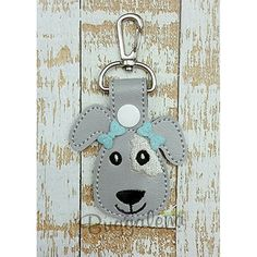 Puppy Dog Snap Tab Key Fob Embroidery Design-Key Fobs / Snap Tabs...