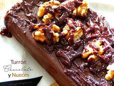 turrón de chocolate con nueces casero explicado paso a paso. Una receta muy sencilla y fácil de elaborar.