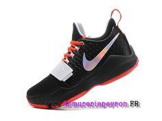 Chaussures Homme Nike PG 1 Floral Print Prix Pas Cher Noir / rouge
