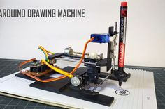 DIY Arduino CNC Drawing Machine : 17 Steps (with Pictures) - Instructables 3d Printing News, 3d Printing Business, 3d Printing Diy, 3d Printing Service, Arduino Cnc, Cnc Router, Machine Cnc, 3d Printing Machine, Simple Arduino Projects
