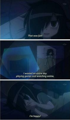 """She's Living the Dream!"" - Yep, plus. This anime is called Watamote and is from the manga It's your fault that I'm not popular. I think, or was another word in it? It's a big manga title though Otaku Anime, Manga Anime, Anime Art, I Love Anime, Me Me Me Anime, Dream Anime, Awesome Anime, Awesome Stuff, Death Note"