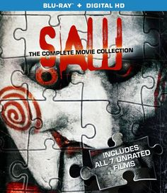 Saw: The Complete Movie Collection Blu-ray  The Saw movies are sick. Literally and figuratively. Soon you'll be able to get all 7 of these disturbingly, awesomely vile, un-rated cult horror flicks in one nifty Blu-ray box-set. Due out September 23rd.