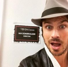 Ian directing an episode of TVD! Amazing!