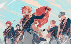 Knights, by Kimjungs Ang Me Me Me Anime, Anime Guys, Manga Anime, Anime Art, Mika Kagehira, Persona 5 Joker, Ensemble Stars, Mystic Messenger, Beautiful Boys