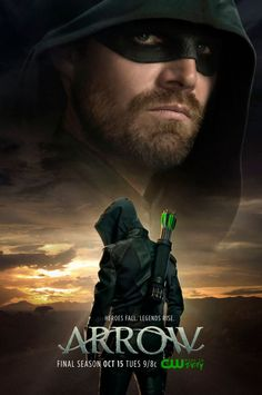 The CW's Arrow has nearly reached its climax, and the first promotional poster for season 8 has made its way online featuring Oliver Queen observing a significant sunset. Arrow Serie, Arrow Tv Series, Dc Comics, Green Arrow Tv, Susanna Thompson, David Ramsey, Arrow Oliver, Movies And Series, Emily Bett Rickards