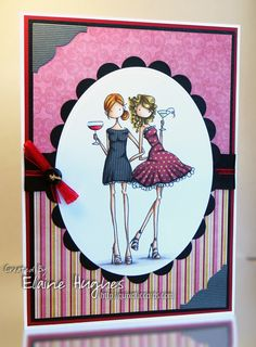 Bellariffic Friday – Buttons & Bows with Uptown Girls Victoria & Juliette – Quixotic Cards