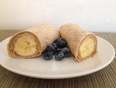 Peanut  Butter Banana Wrap...a fun and healthy snack or breakfast! Just made this for a snack. Very yummy!