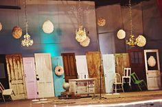 vintage door backdrop   Reasons Why Old Doors Make Incredible Green Wedding Decorations }