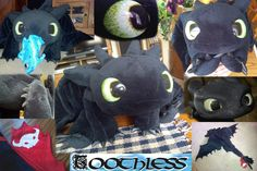 Quirky Artist Loft: Free Pattern: Toothless Dragon Plush --- it's some sort of compilation on this page