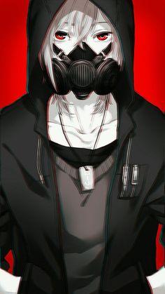 Gas mask anime boy animu anime, dark anime e manga anime Anime Guys With Glasses, Hot Anime Guys, Cute Anime Boy, Anime Boys, Manga Anime, Manga Boy, Anime Art, Manga Hair, Dark Anime