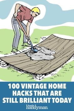 These tips and tricks for the home have been passed down from generation to generation, but do they still hold up today? You better believe it! Backyard Projects, Home Projects, Concrete Repair Products, Survival Life Hacks, Home Fix, Diy Home Repair, Buying A New Home, Home Repairs, Useful Life Hacks
