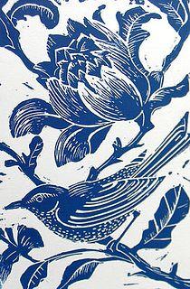 Blue Bird Original Hand Printed Linocut by Amanda Colville Linocut Prints, Art Prints, Block Prints, Illustrations, Illustration Art, Linoprint, Stamp Printing, Art Plastique, Woodblock Print