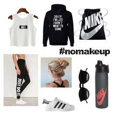 """""""camping"""" by nancyayala205 on Polyvore featuring NIKE, adidas and Chicnova Fashion"""