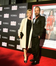 The #legendary #Sting and #TrudieStyler come out to support #TheIntern!