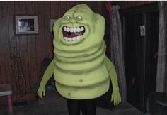 Slimer!  haha a Slimer Costume!