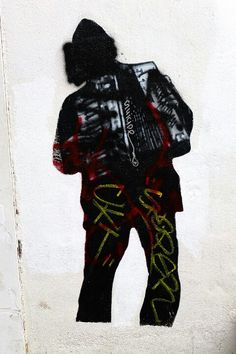 Paris 13 butte aux cailles - rue samson - street art - jef aerosol