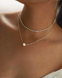 Women Long Fashion Necklace Wide Metal Chains 2 Piece Shoulder Bib Pendant Gold