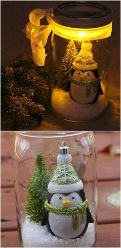 5a9745fed 40+ DIY Mason Jar Ideas & Tutorials for Holiday. Nápady Na Ručné PráceNápady  Pre Šikovné RukyJesenné ...