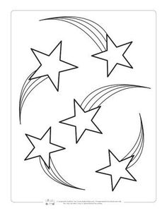 shooting star coloring pages for kids | Shooting Star Outline to Color In | Star coloring pages ...